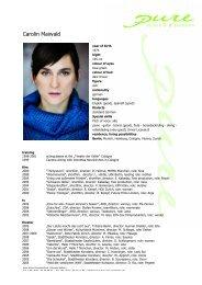 Maiwald, Carolin eng 09 1 - pure actors and presenters