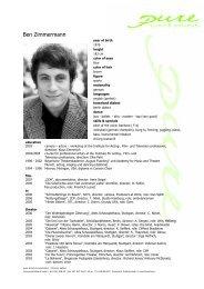Zimmermann, Ben 08 eng - pure actors and presenters