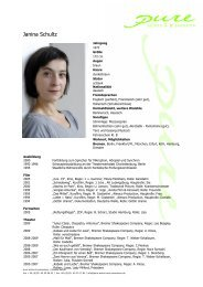 Schultz, Janina 09 - pure actors and presenters