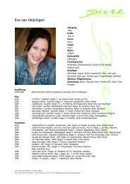 van Heijningen, Eva 11 - pure actors and presenters