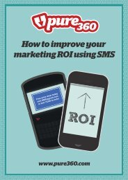 How to improve your marketing ROI using SMS - Pure360