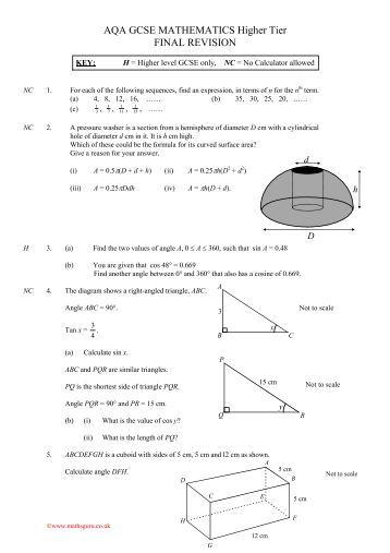 AQA GCSE Mathematics for Middle Sets Student Book (AQA GCSE Maths 2010), Payne,