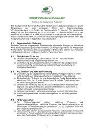 Förderrichtlinien (Solarstromökobonus) - Purkersdorf
