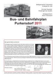 Bus- und Bahnfahrplan - Purkersdorf