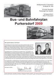 Bus- und Bahnfahrplan Purkersdorf 2009