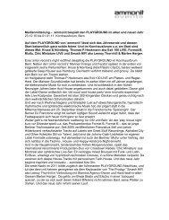Medienmitteilung – ammonit bespielt den ... - purpur edition