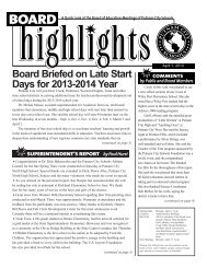 Board Briefed on Late Start Days for 2013-2014 Year - Putnam City ...