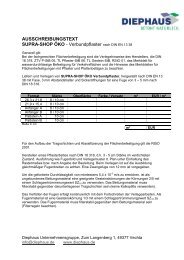 AUSSCHREIBUNGSTEXT SUPRA-SHOP ÖKO - Diephaus