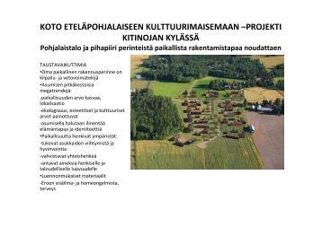 Kitinojan koto-projekti - Puuinfo