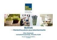 BoKlok – mahdollisuuksia puurakentamiselle - Puuinfo