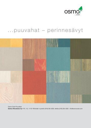 Puuvahat - perinnesävyt sisäkäyttöön (pdf) - Puuinfo