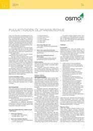 Puulattioiden öljyvahausohje (pdf) - Puuinfo