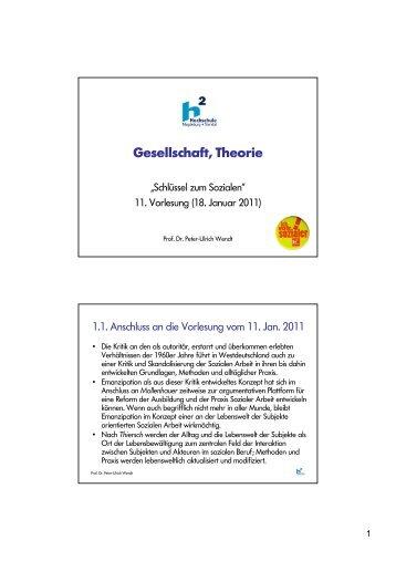 11. Vorlesung - Gesellschaft, Theorie - puwendt.de