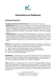 Informationen zum Studienstart - puwendt.de