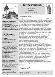 Pfarrnachrichten - Pastoralverbund Boke-Ostenland