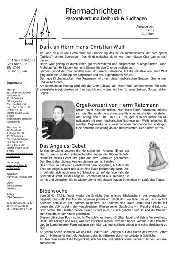 15.Januar 2012 2.Sonntag im Jahreskreis - Pastoralverbund ...