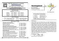 Sonntagsbrief - Katholische Kirchengemeinde St. Laurentius in ...