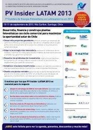 PV Insider LATAM 2013 1ª Cumbre de Energía Fotovoltaica en ...