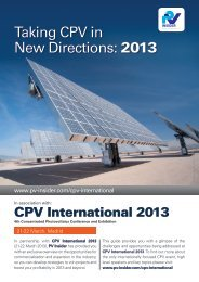 Taking CPV in New Directions: 2013 - PV Insider