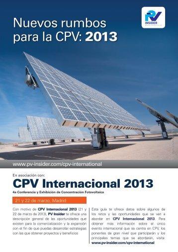 Nuevos rumbos para la CPV: 2013 - PV Insider