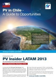 PV in Chile - PV Insider