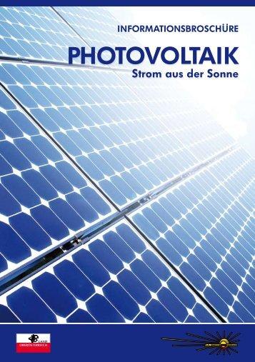 """Broschüre """"Photovoltaik - Strom aus der Sonne"""" - PV-Schule"""