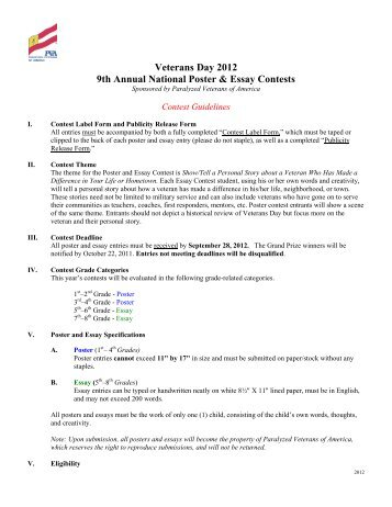 Veterans Day Essay Competition - image 11