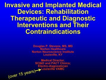 Invasive and Implanted Medical Devices
