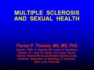 Multiple Sclerosis and Sexual Health