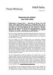Presse-Mitteilung - PVA TePla Sports