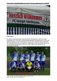 Platz 4 beim Freitzeitfußballturnier des FC ... - PVA TePla Sports