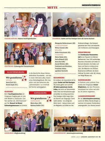 Wir gratulieren - Pensionistenverband Niederösterreich