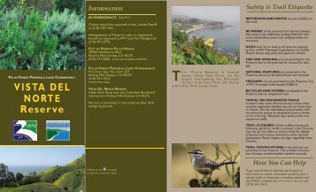 Vista del Norte Reserve - Palos Verdes Peninsula Land Conservancy