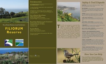 Filiorum Reserve - Palos Verdes Peninsula Land Conservancy
