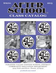 Spring Catalog 2013 - The Paradise Valley Unified School District