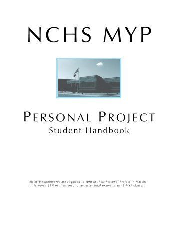NC-MYP Personal Project Handbook