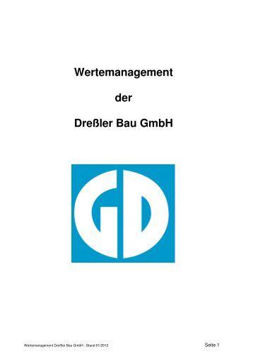 Wertemanagement - aktueller Stand formatiert - mit ... - Dreßler-Bau