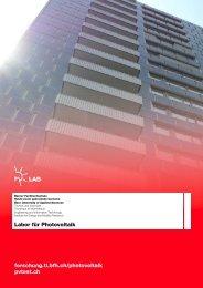 Factsheet Labor für Photovoltaik