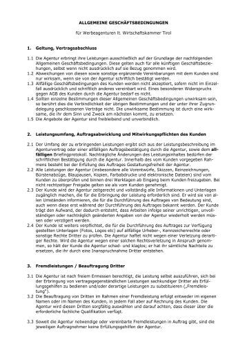 agb werbeagenturen pw design - Bewerbung Werbeagentur