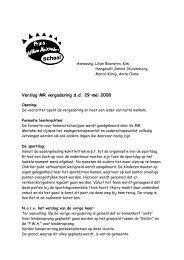Verslag van de MR vergadering d.d. 29 mei 2008.