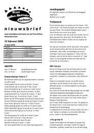 nieuwsbrief 22 februari 2008 - Prins Willem Alexanderschool