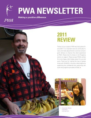 2011 Winter newsletter - Toronto People With AIDS Foundation