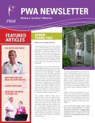 2010 Winter newsletter - Toronto People With AIDS Foundation