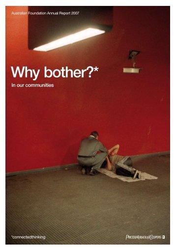 Foundation Report 2007 - PricewaterhouseCoopers