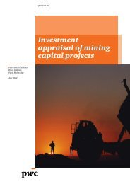 Investment appraisal of mining capital projects - PwC