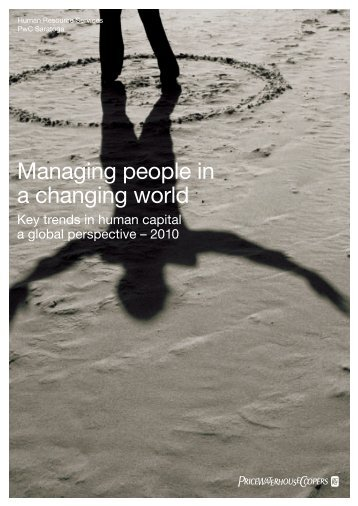 Managing people in a changing world - PricewaterhouseCoopers