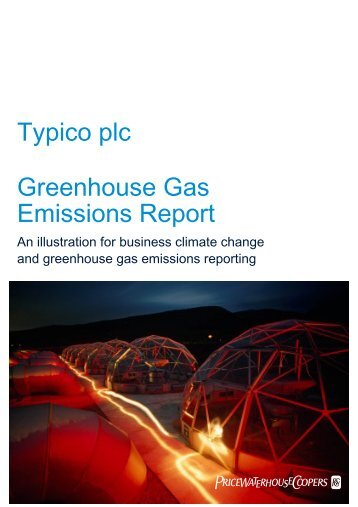 Typico plc Greenhouse Gas Emissions Report – 2009 - PwC