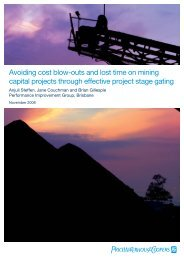 Mining capital projects - PricewaterhouseCoopers