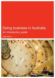 Doing business in Australia | An introductory guide - PwC