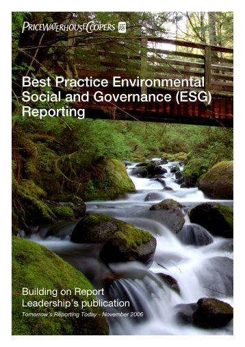 (ESG) Reporting - PricewaterhouseCoopers